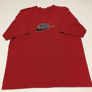 Vintage nike spell out logo graphic red t shirt